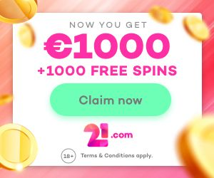 Latest no deposit bonus from 21com Casino