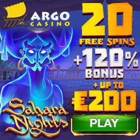 Latest no deposit bonus from Argo Casino