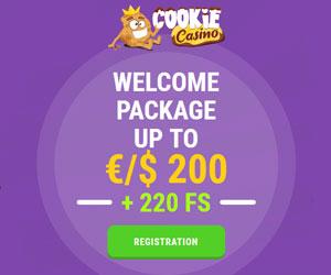 Featured bonus from Cookie Casino