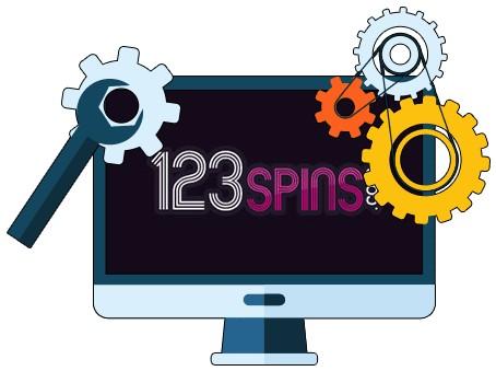 123 Spins Casino - Software