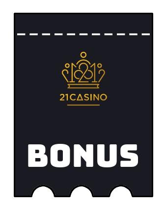 Latest bonus spins from 21 Casino