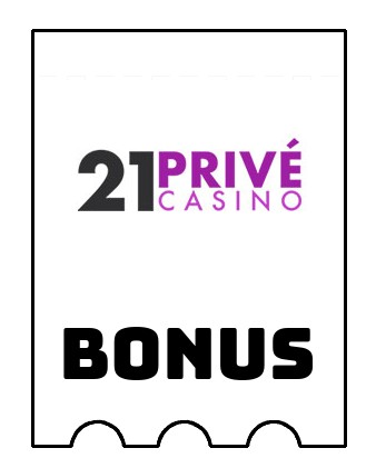 Latest bonus spins from 21 Prive Casino