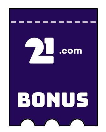 Latest bonus spins from 21com Casino