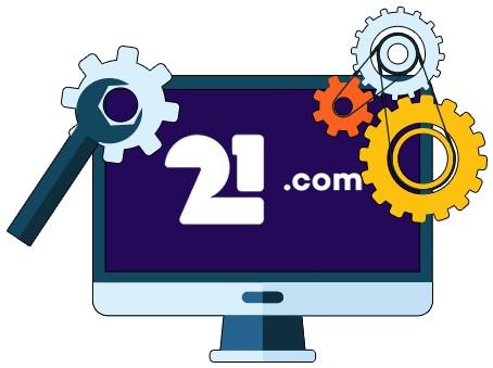21com Casino - Software