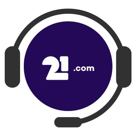 21com Casino - Support