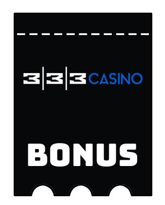 Latest bonus spins from 333 casino