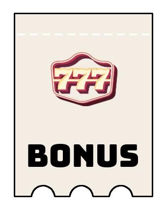 Latest bonus spins from 777 Casino