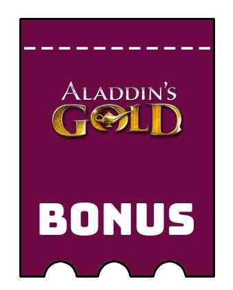 Latest bonus spins from Aladdins Gold Casino