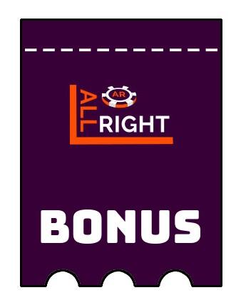 Latest bonus spins from All Right Casino