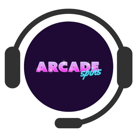 Arcade Spins Casino - Support