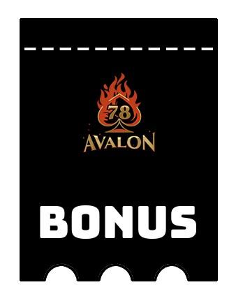 Latest bonus spins from Avalon78