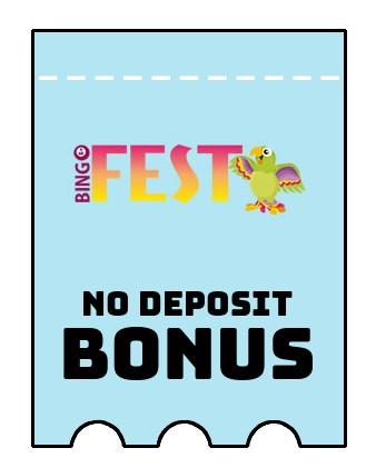 BingoFest Casino - no deposit bonus CR