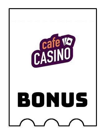Latest bonus spins from Cafe Casino