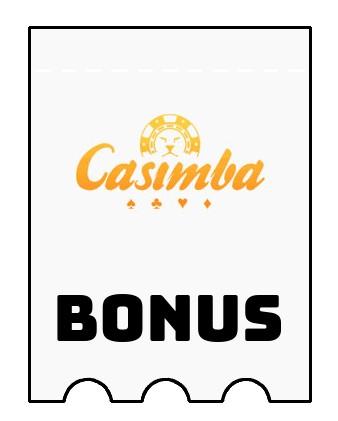 Latest bonus spins from Casimba Casino