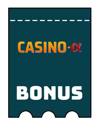 Latest bonus spins from Casino Alpha