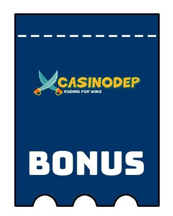 Latest bonus spins from Casinodep