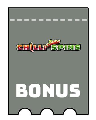 Latest bonus spins from Chilli Spins