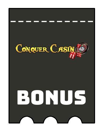 Latest bonus spins from Conquer Casino