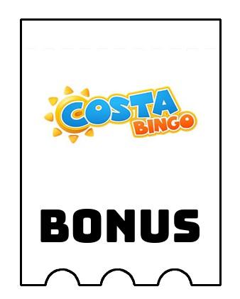 Latest bonus spins from Costa Bingo