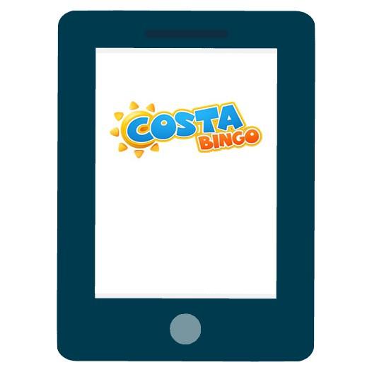 Costa Bingo - Mobile friendly