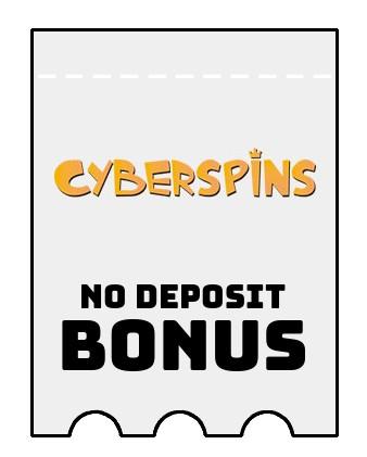 CyberSpins - no deposit bonus CR
