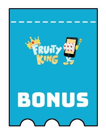 Latest bonus spins from Fruity King Casino
