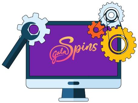Gala Spins Casino - Software