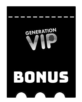 Latest bonus spins from GenerationVIP