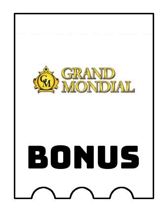 Latest bonus spins from Grand Mondial