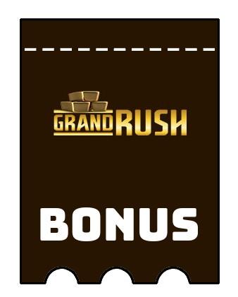 Latest bonus spins from Grand Rush