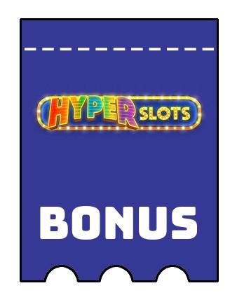 Latest bonus spins from Hyper Slots Casino