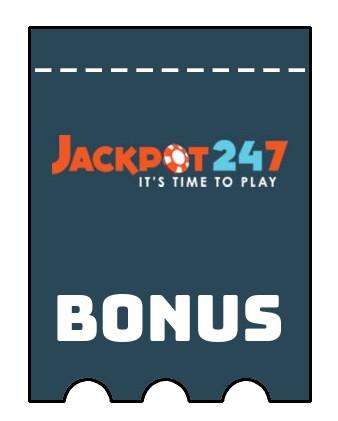 Latest bonus spins from Jackpot247 Casino