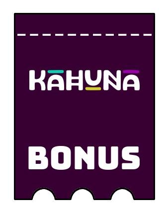 Latest bonus spins from Kahuna