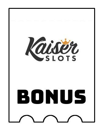 Latest bonus spins from Kaiser Slots Casino