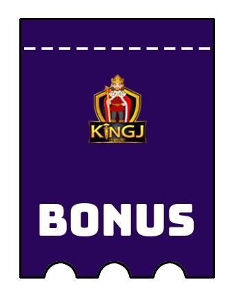 Latest bonus spins from KingJCasino