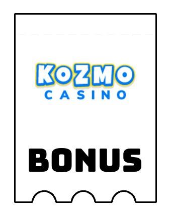 Latest bonus spins from Kozmo Casino