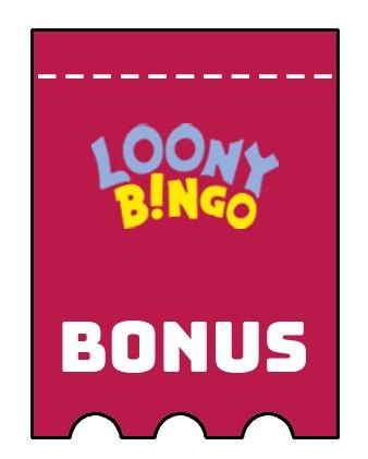 Latest bonus spins from Loony Bingo