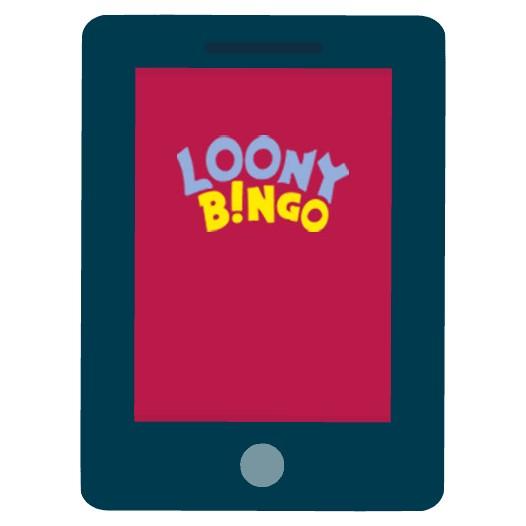 Loony Bingo - Mobile friendly
