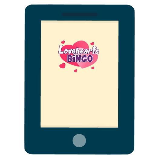 Love Hearts Bingo - Mobile friendly