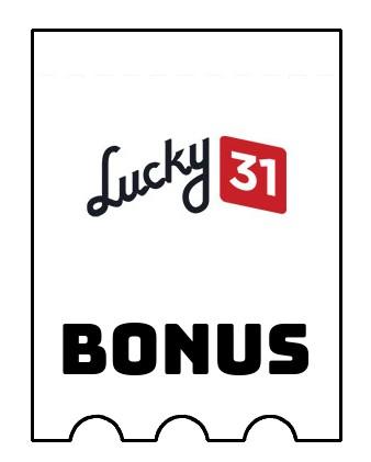 Latest bonus spins from Lucky 31 Casino
