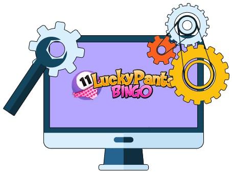 Lucky Pants Bingo Casino - Software