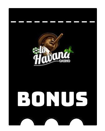 Latest bonus spins from Old Havana