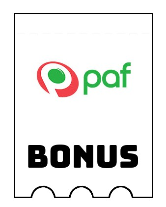 Latest bonus spins from Paf Casino