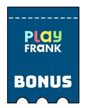 Latest bonus spins from Play Frank Casino