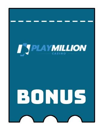 Latest bonus spins from Play Million Casino