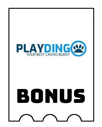 Latest bonus spins from Playdingo