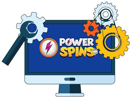Powerspins Casino - Software