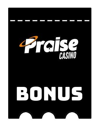 Latest bonus spins from Praise Casino