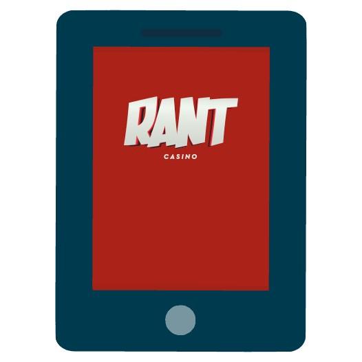 Rant Casino - Mobile friendly