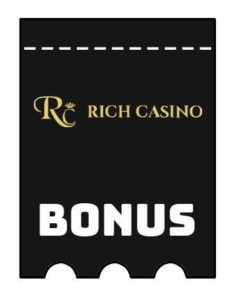 Latest bonus spins from Rich Casino